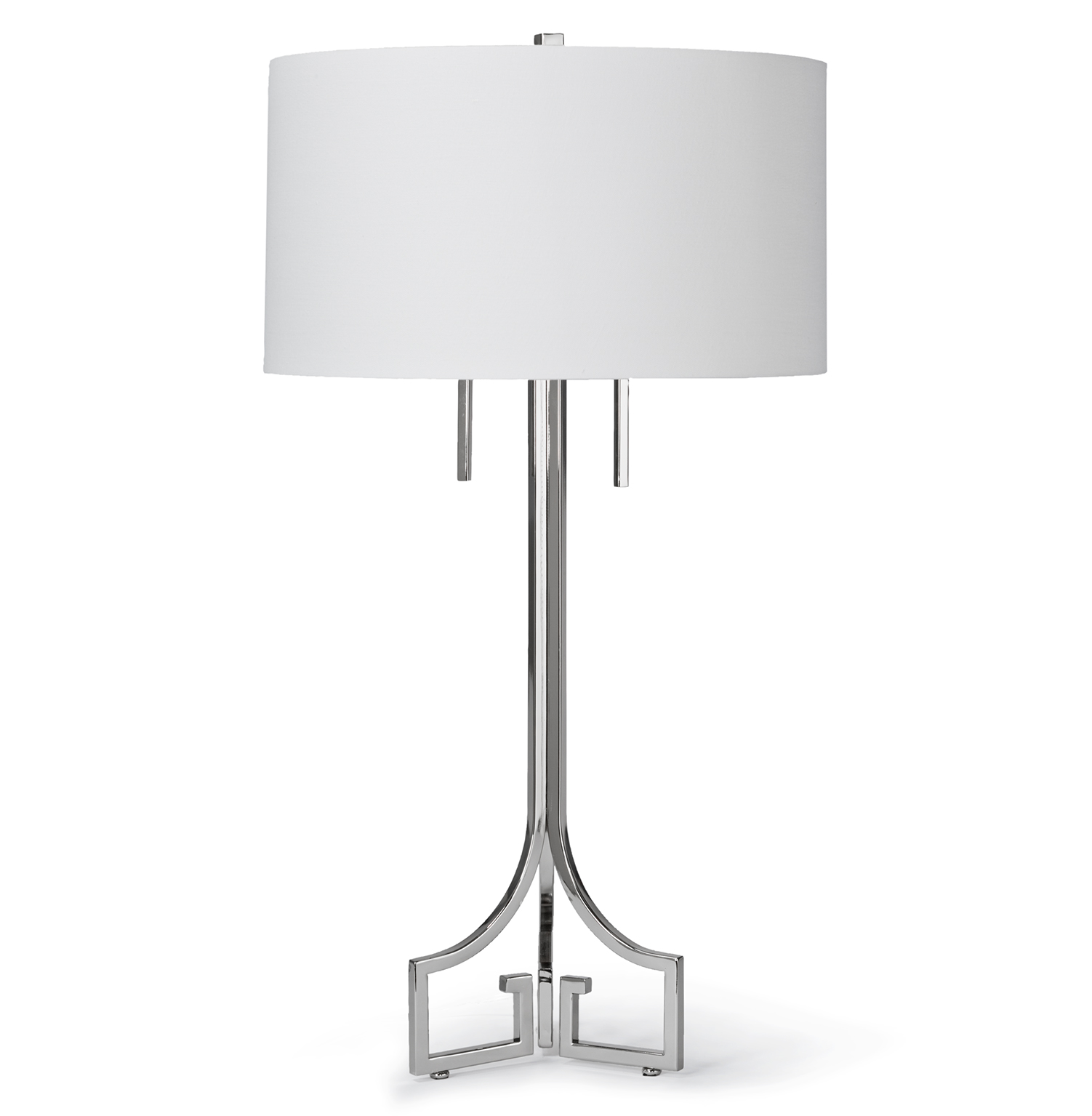 Tandy Hollywood Regency Linen Silver Table Lamp