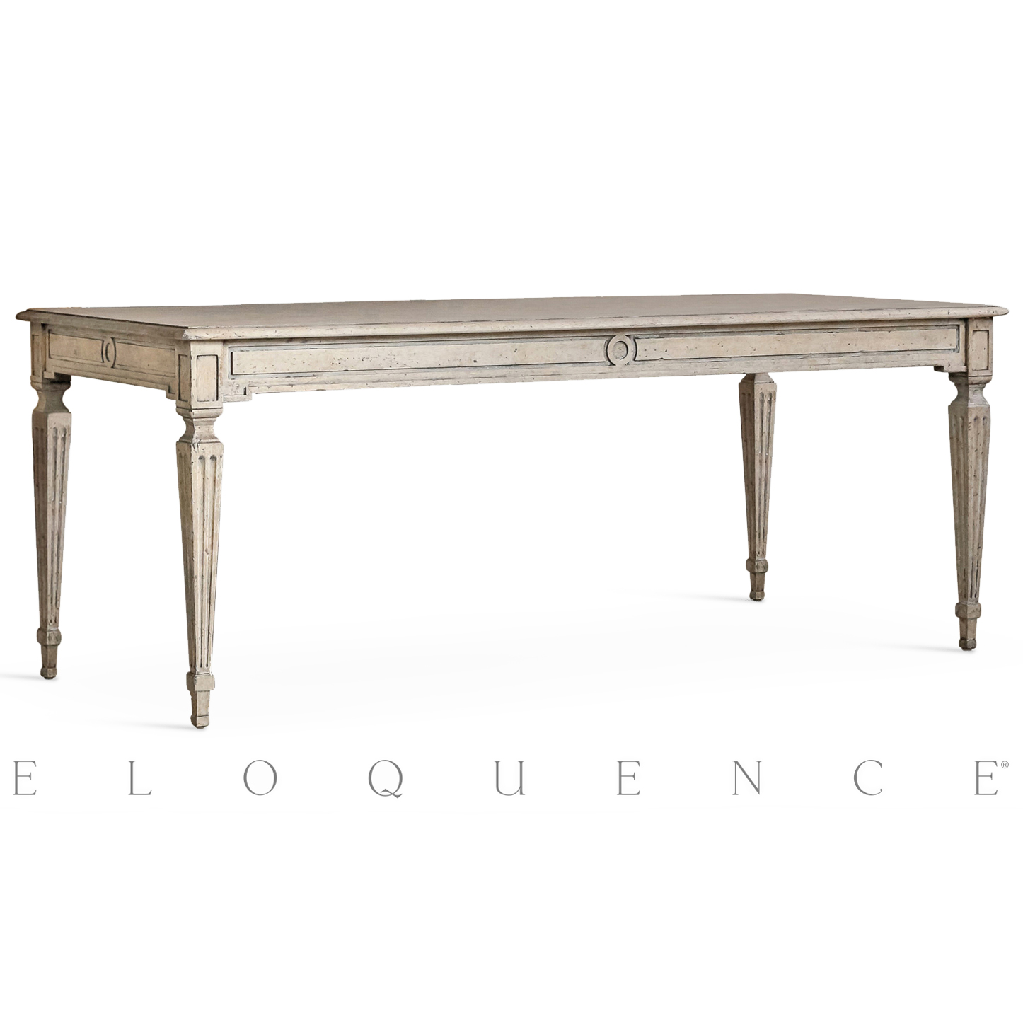 Eloquence® Gustavian Dining Table in Oak Driftwood