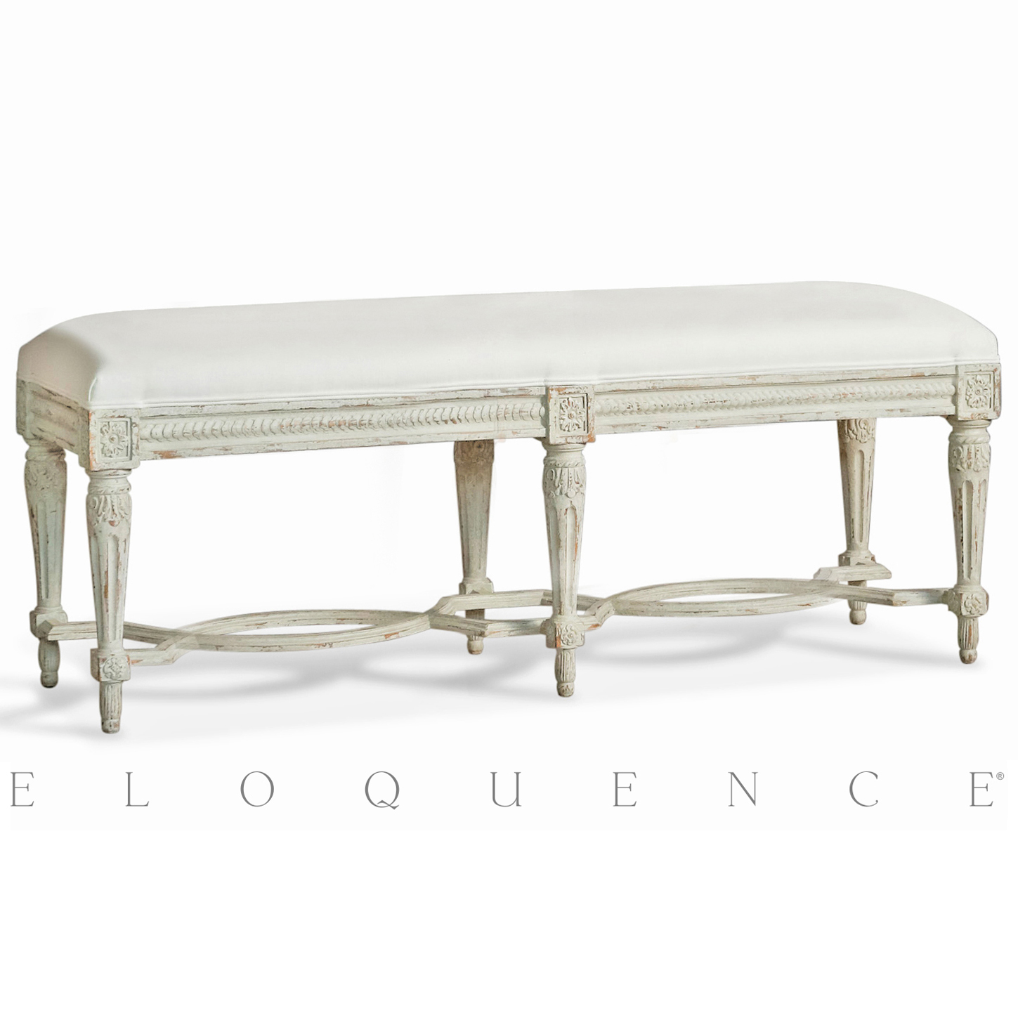 Eloquence® Constance Bench in Dove Grey