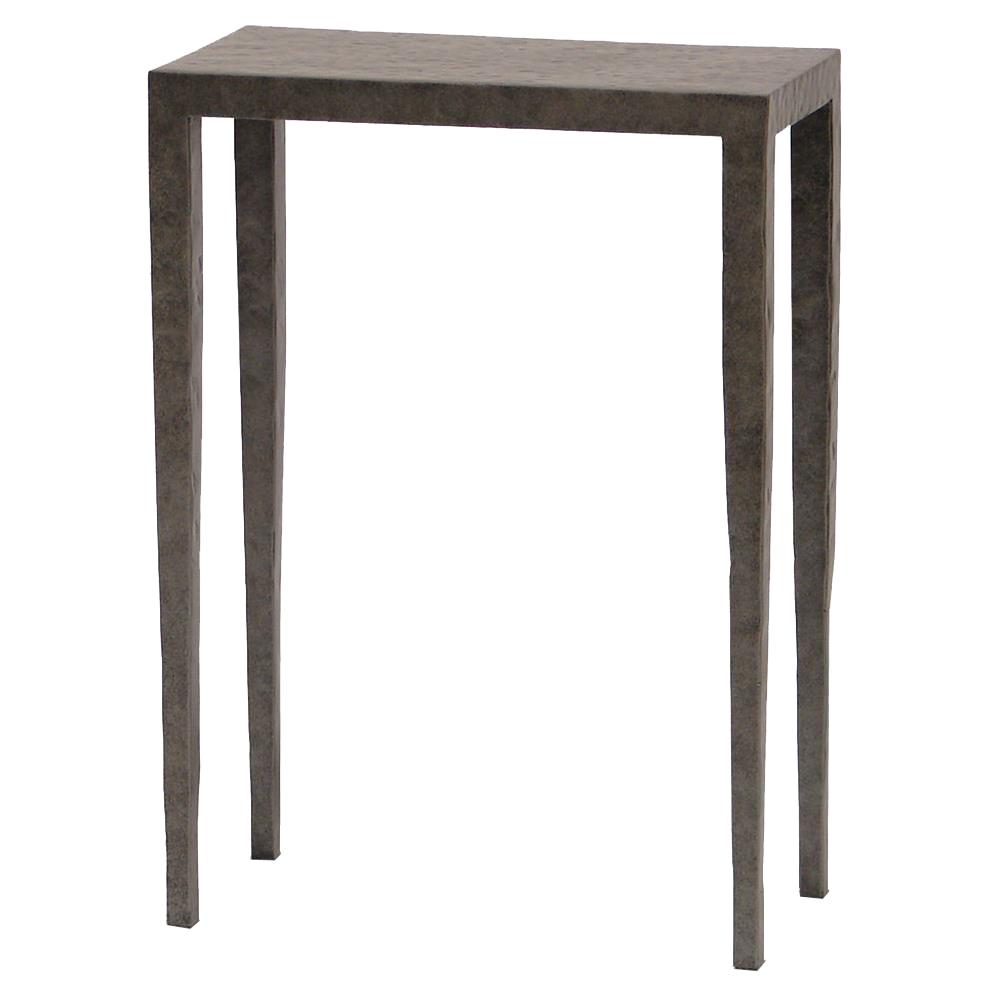 Josephine Industrial Loft Graphite Rectangular Metal Drink Side Table