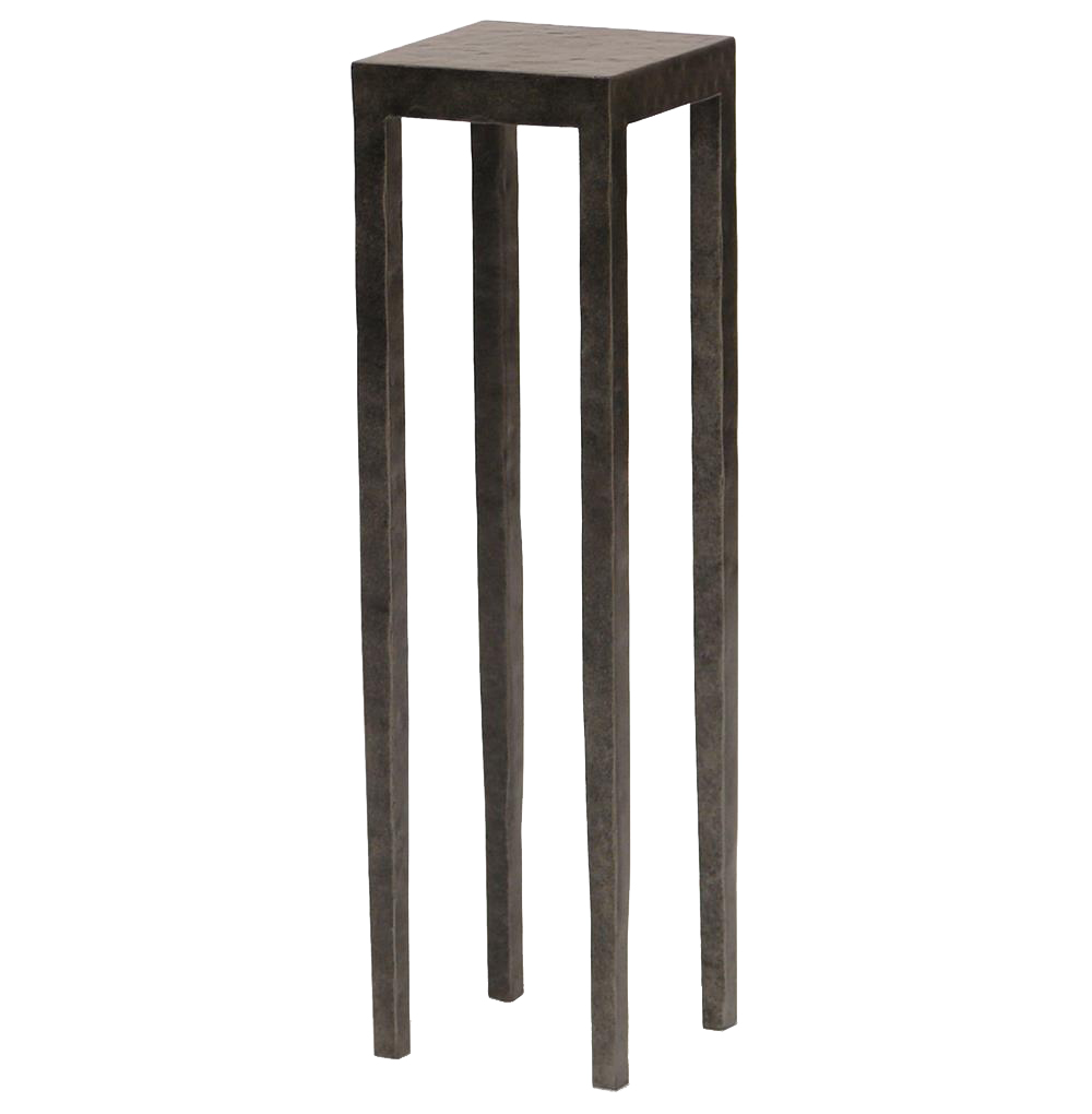 Josephine Industrial Loft Graphite Square Metal Drink Side Table