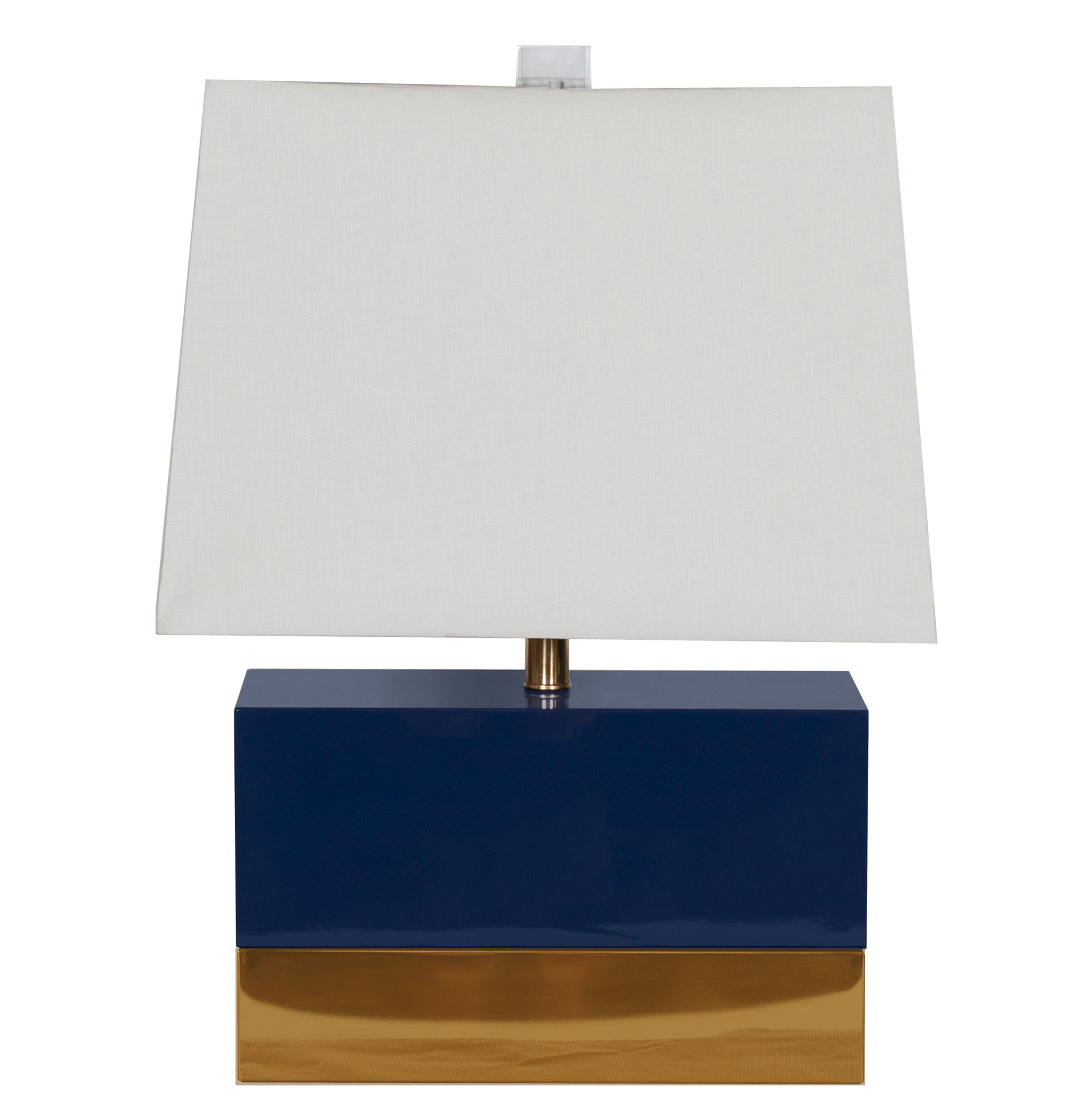 Titan Hollywood Regency Rectangular Navy Gold Table Lamp