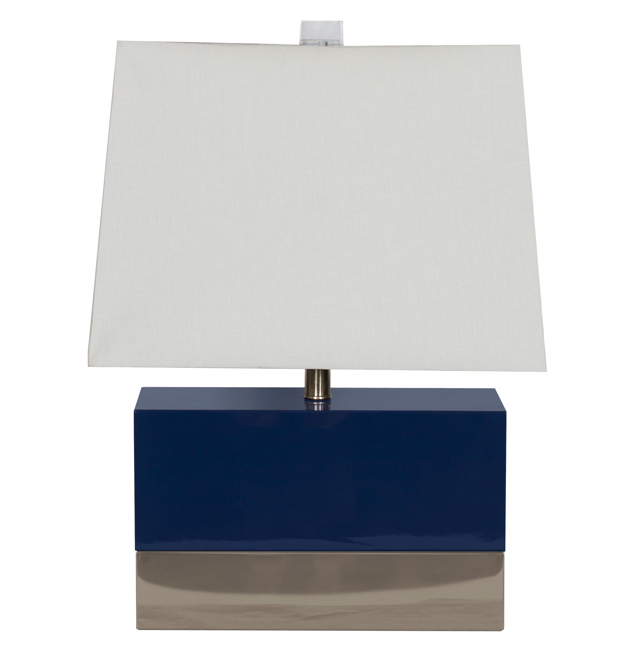 Titan Hollywood Regency Rectangular Navy Nickel Table Lamp