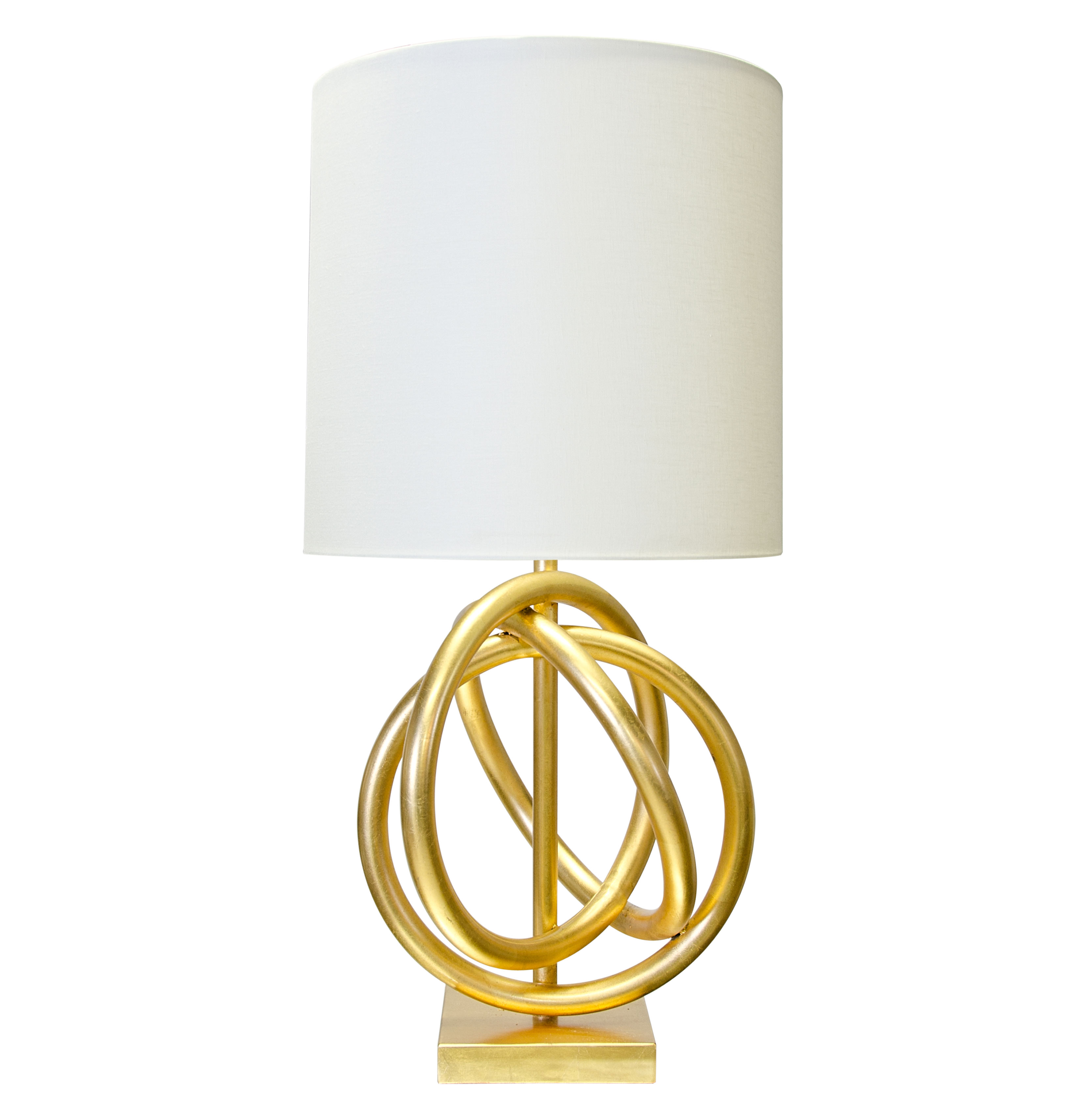 Trinity Hollywood Regency Gold Ring White Table Lamp
