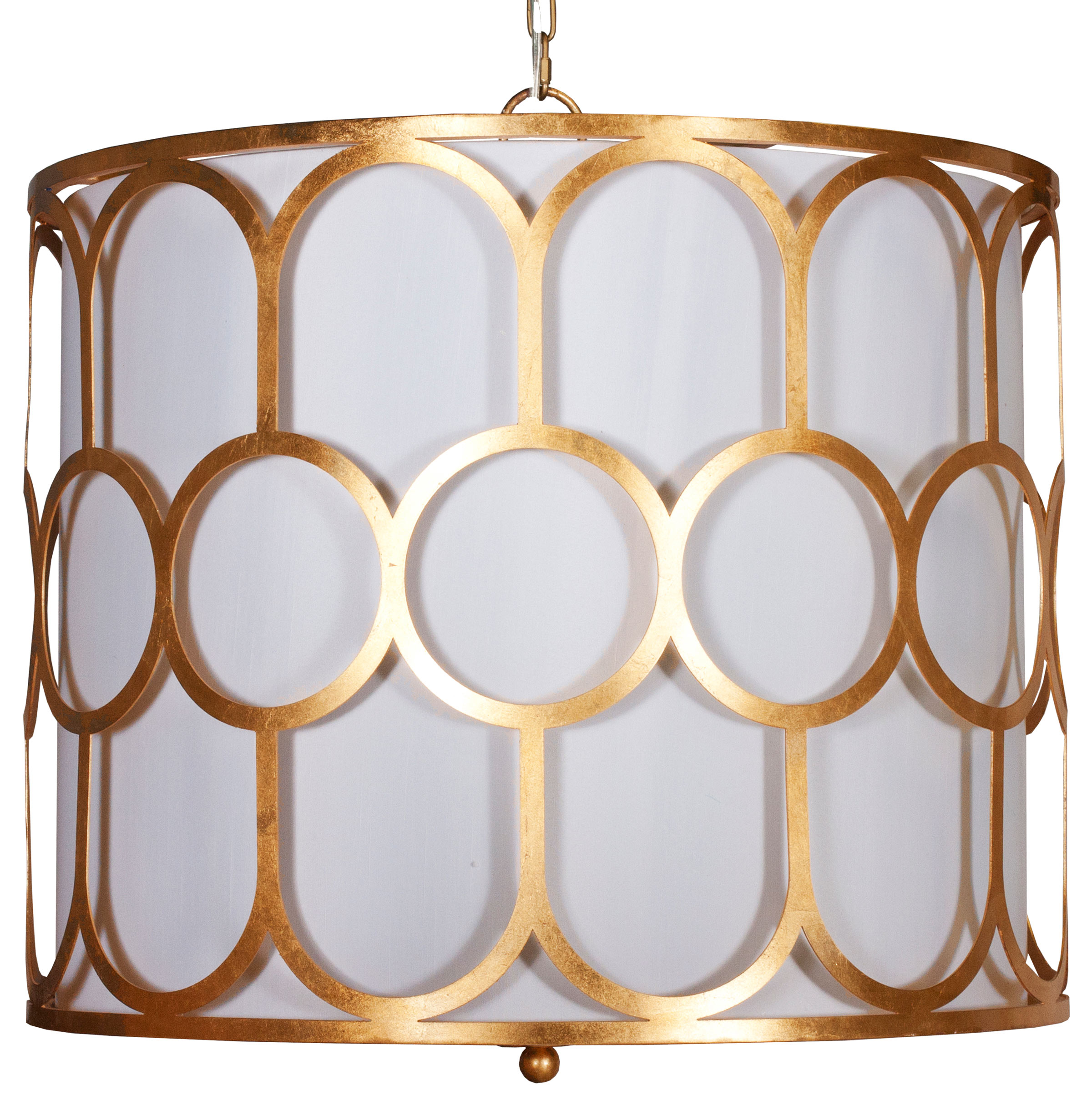 Hoffman Hollywood Regency Gold Pendant Chandelier