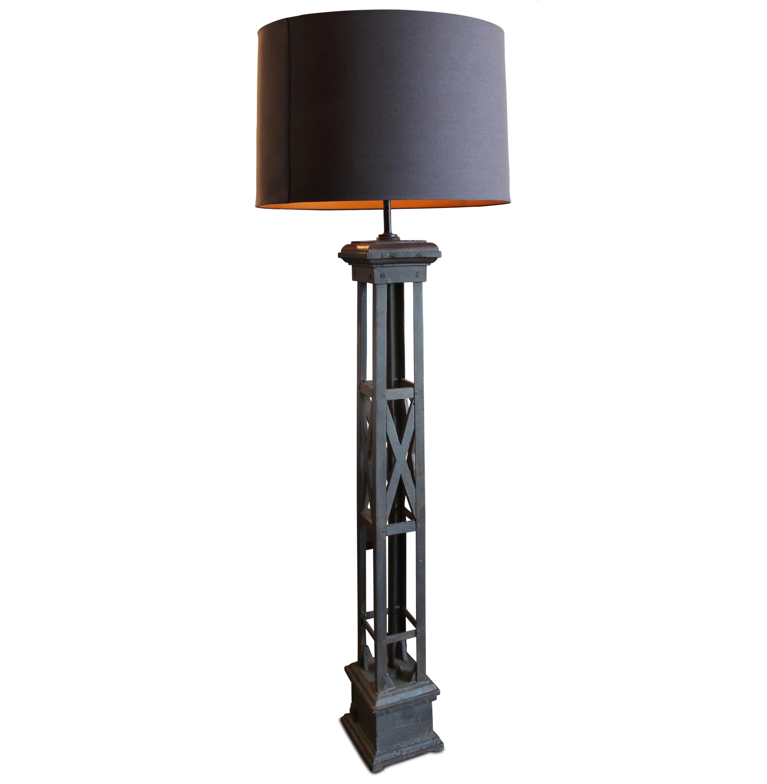 Somerson Industrial Loft Vintage Gate Post Floor Lamp