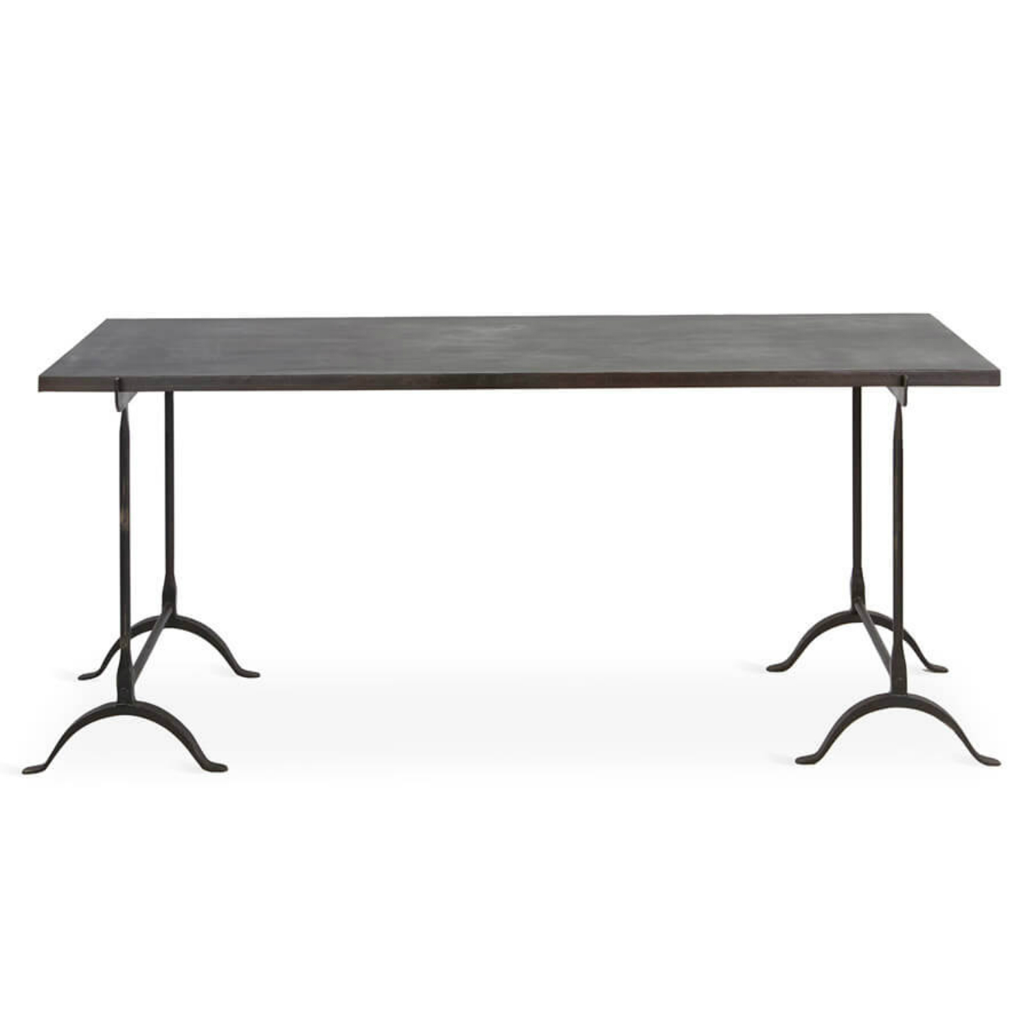 Ascalon Industrial Loft Iron Rust Recycled Rubber Dining Table
