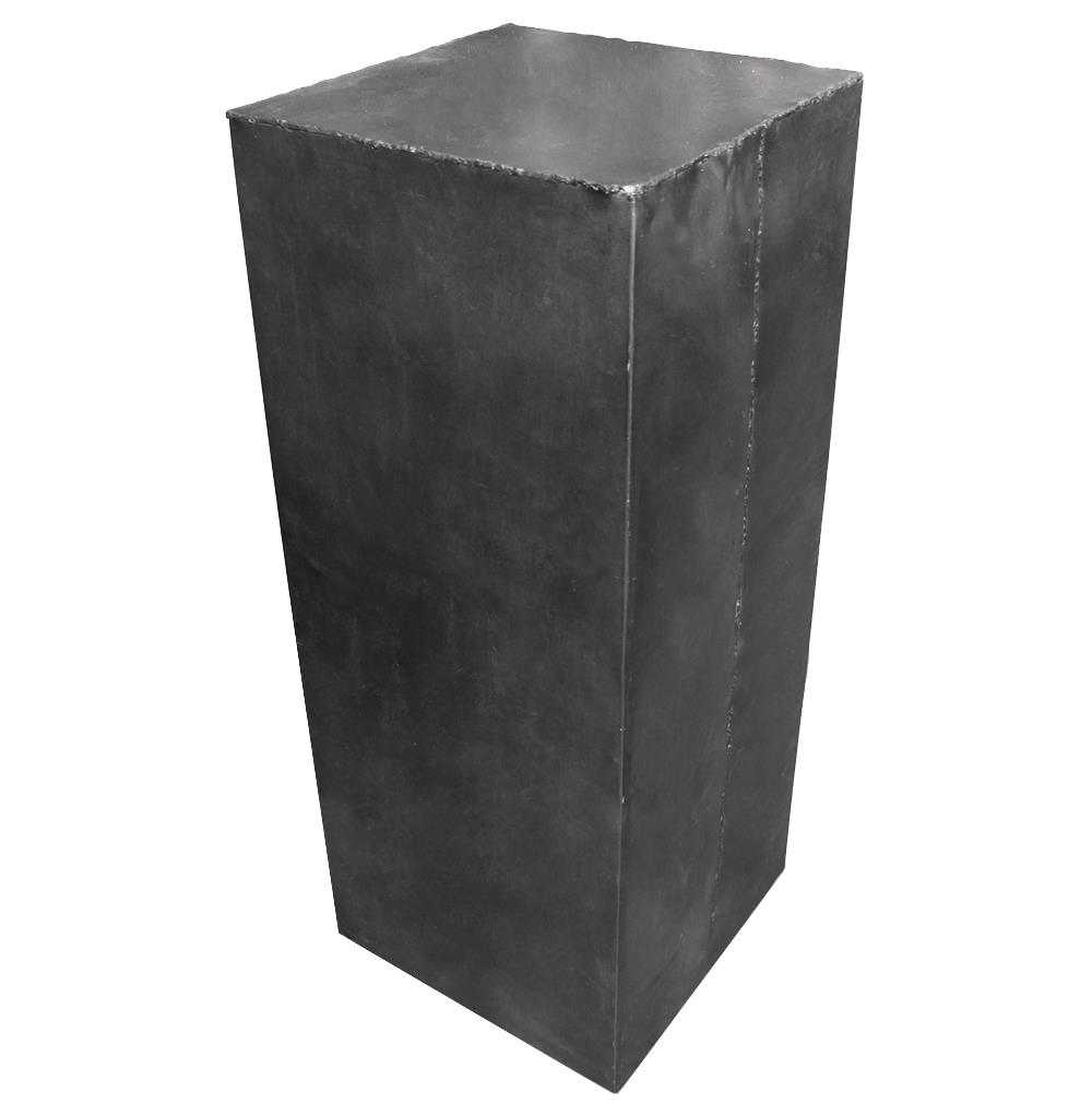 Hollow Raw Steel Industrial Loft Display Pedestal Stands - 40 Inch