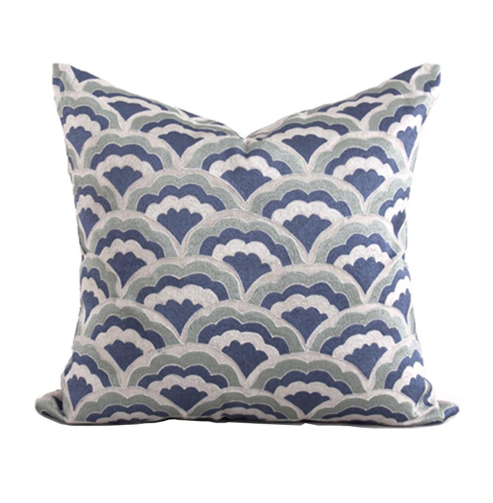Norton Coastal Beach Blue Natural Pillow - 22x22