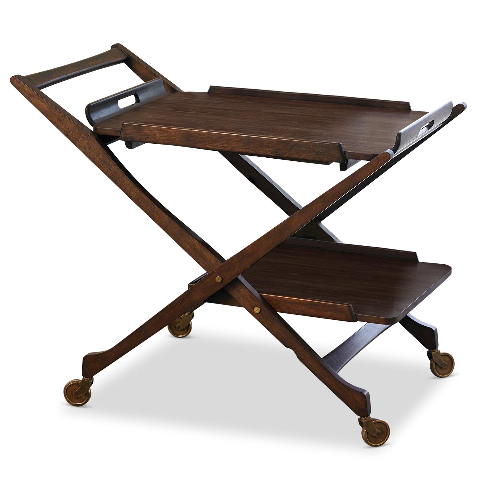 Cooper Hollywood Regency Modern Rolling Bar Cart