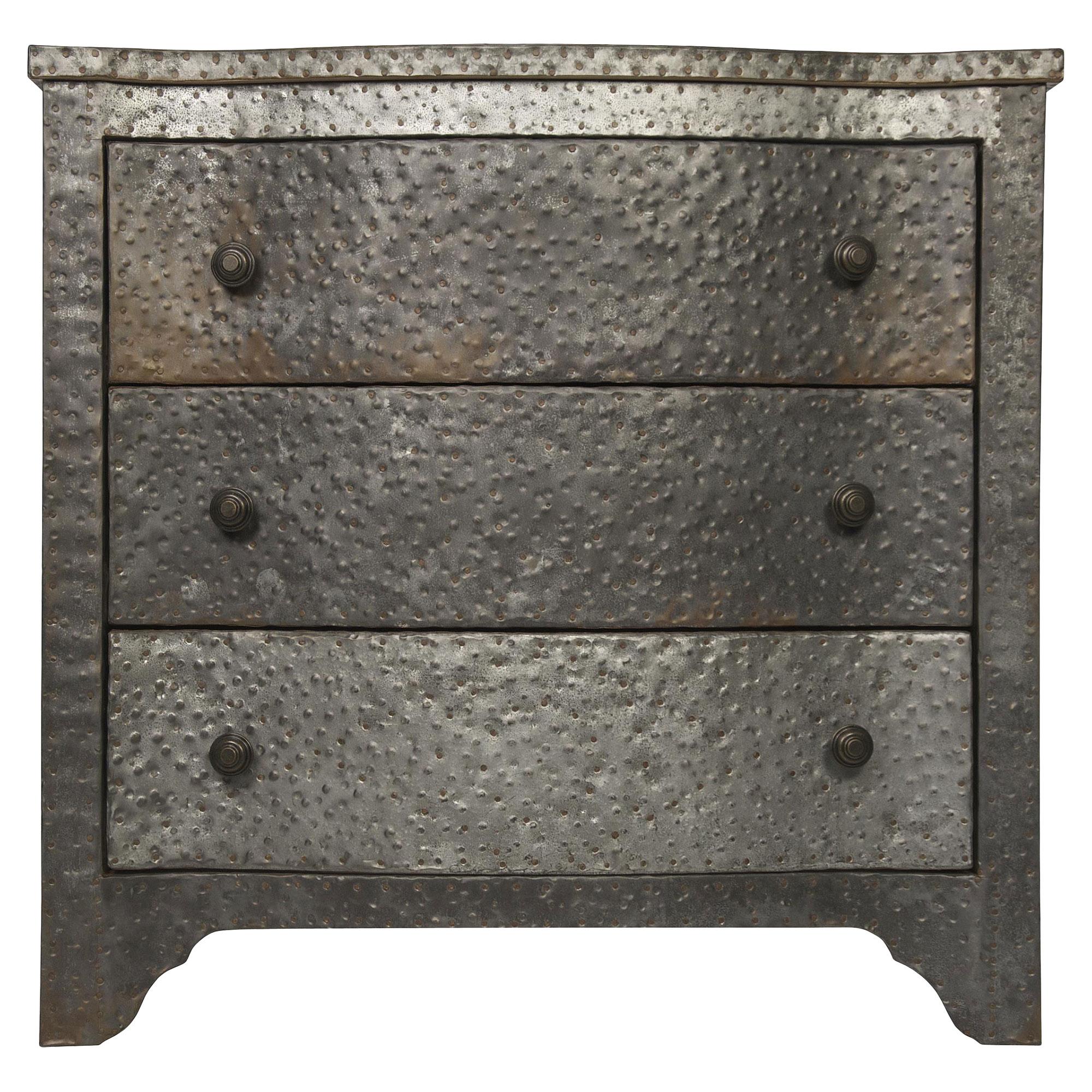 Jayson Industrial Loft Metal Hammered Zinc Dresser
