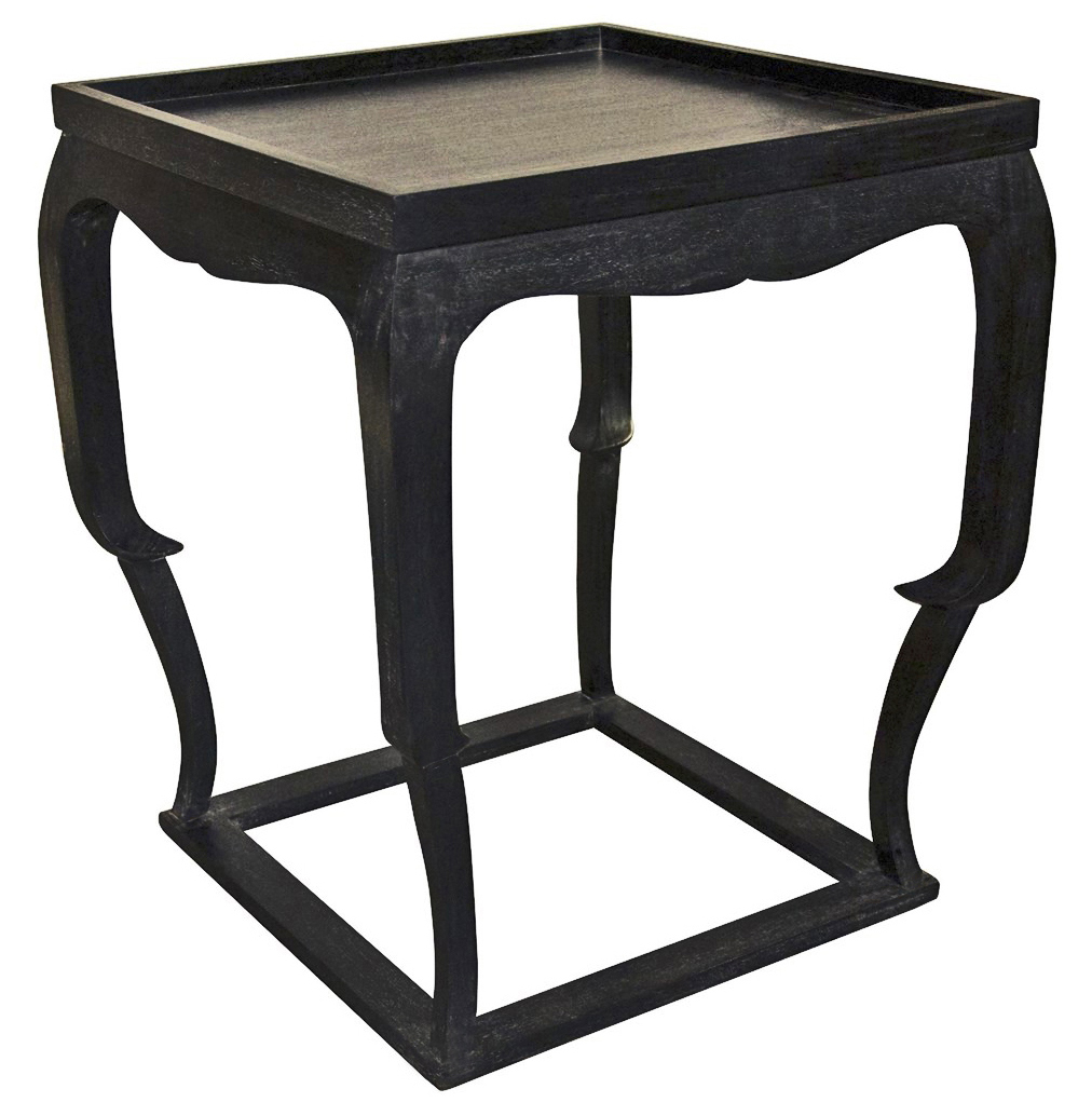 Karima Global Bazaar Black Wood Side Table