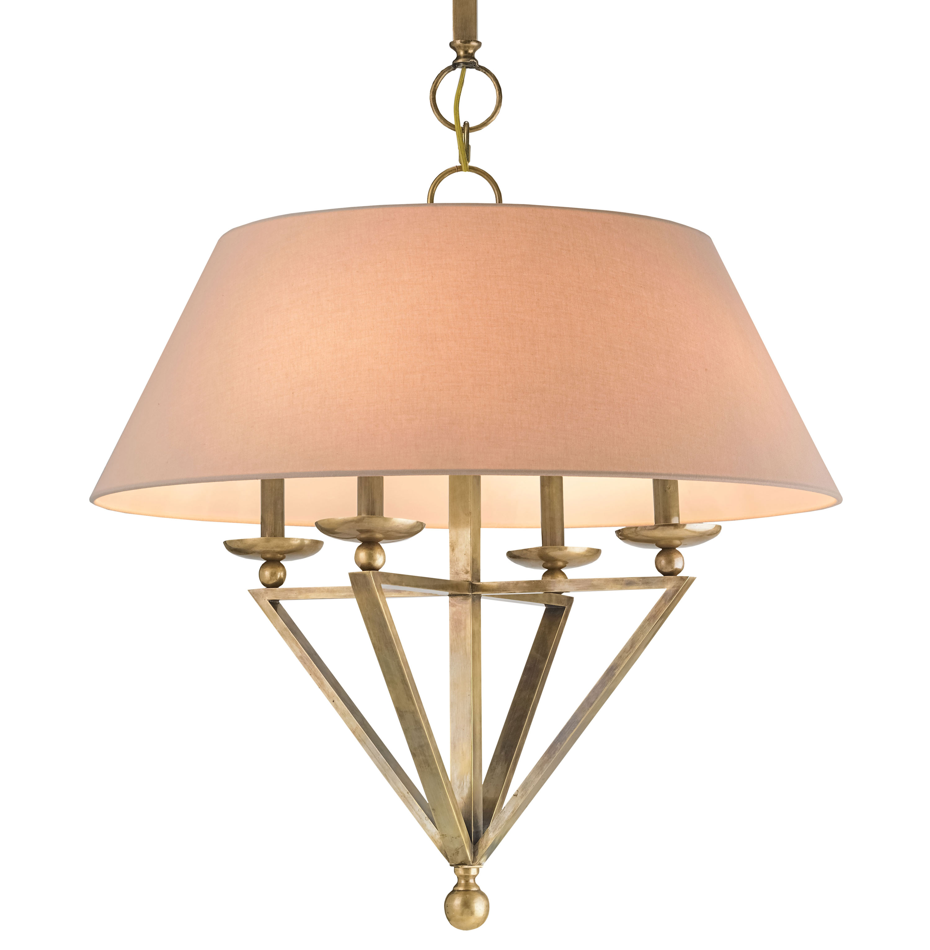 Harper Transitional Classic Antique Brass Large Pendant Light