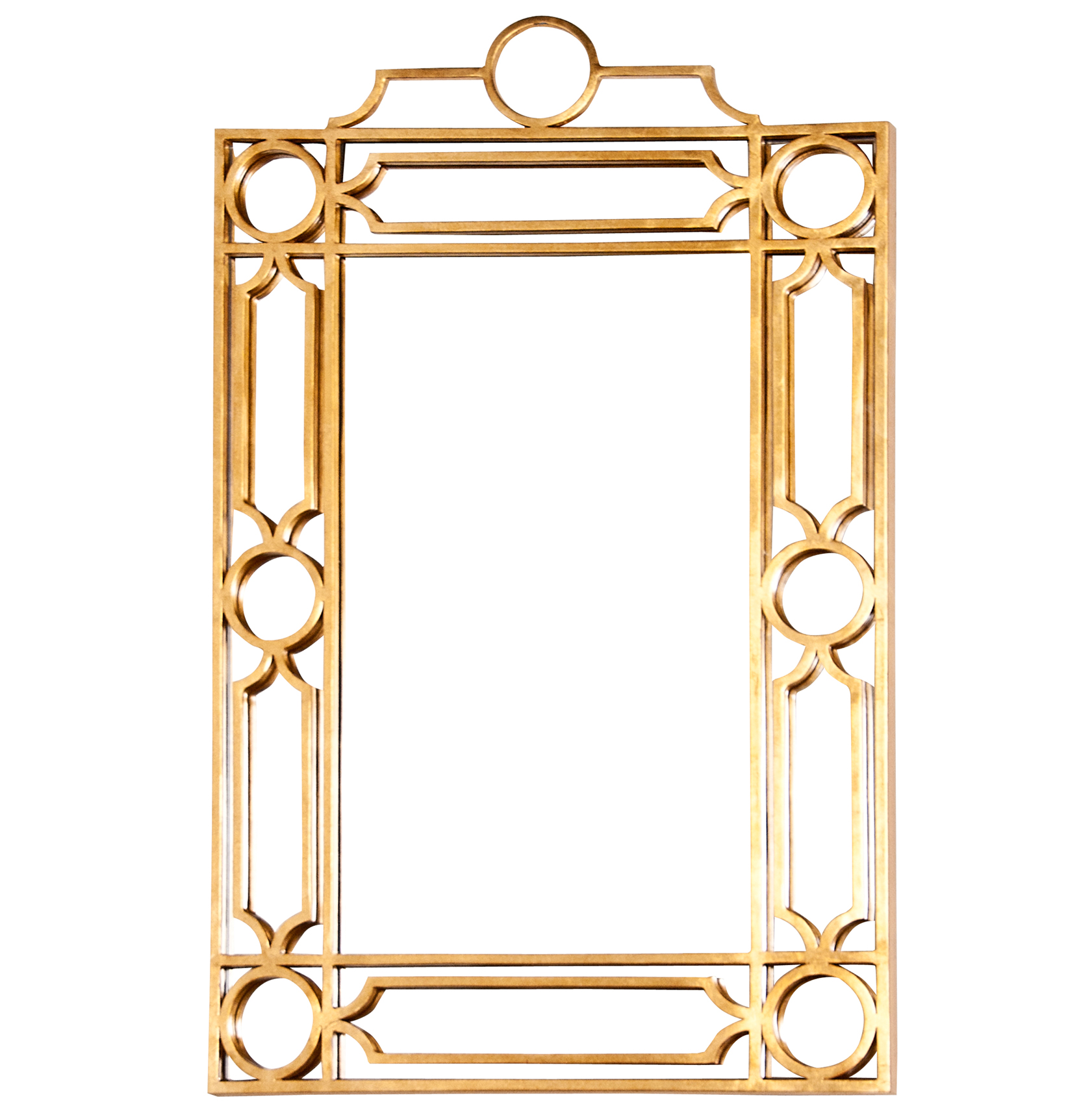 Brando Hollywood Regency Gold Trellis Wall Mirror