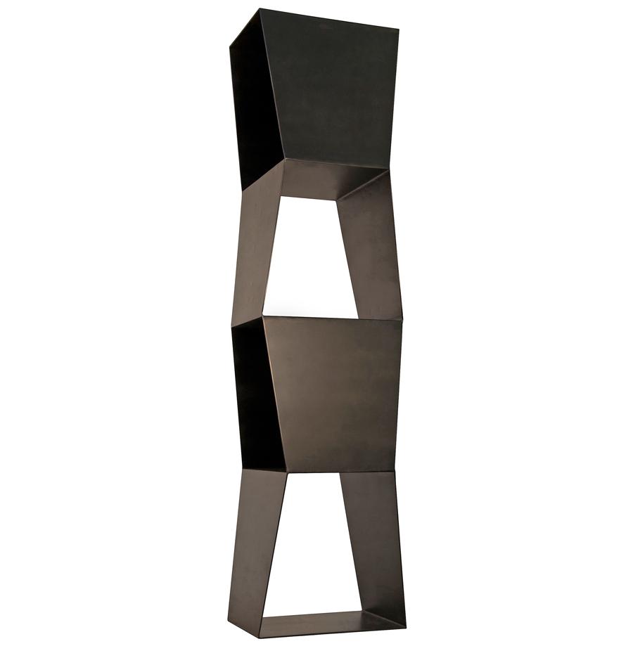 Branton Industrial Loft Modern Sculptural Metal Bookcase