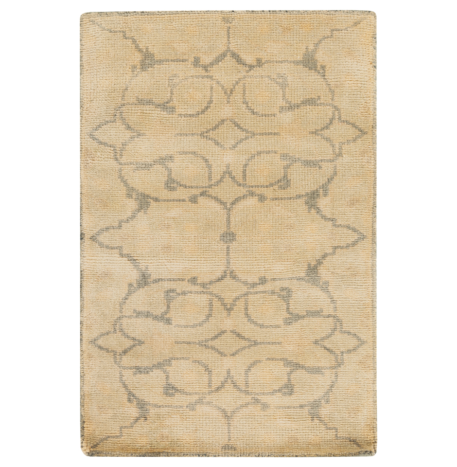 Mouret French Country Grey Olive Hand Knotted Wool Rug - 2x3