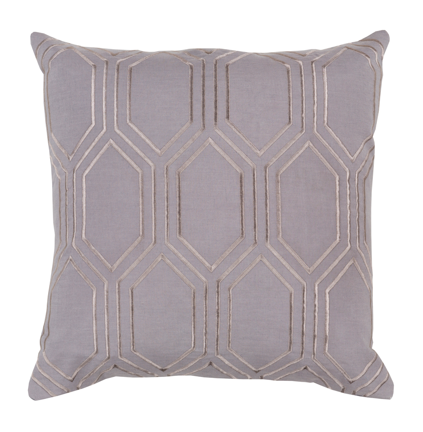 Sylvia Hollywood Regency Linen Down Taupe Pillow - 18x18