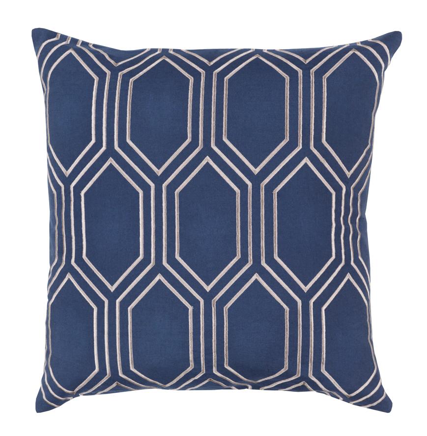 Sylvia Hollywood Regency Linen Down Navy Pillow - 22x22