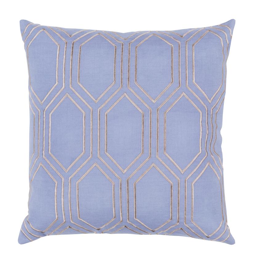 Sylvia Hollywood Regency Linen Down Light Blue Pillow - 22x22