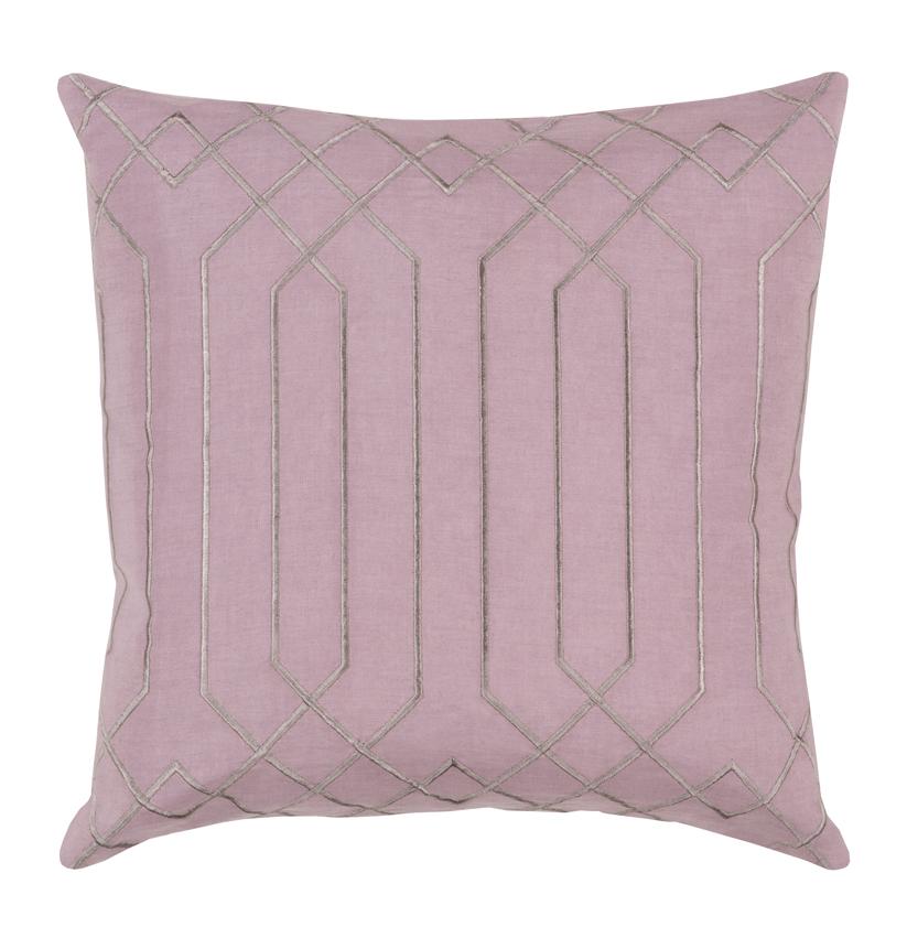 Jillian Hollywood Regency Linen Down Pink Pillow - 22x22