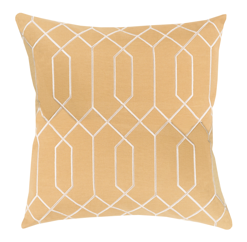 Kylie Hollywood Regency Linen Down Yellow Pillow - 18x18