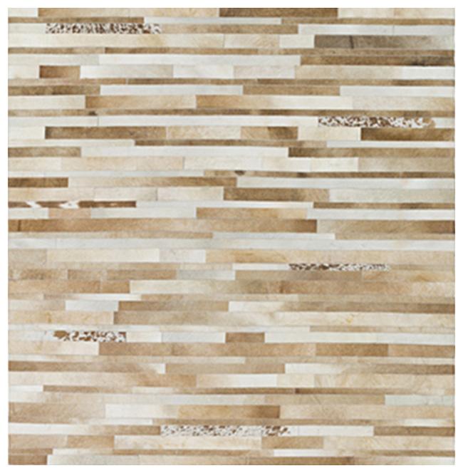 Kamla Global Bazaar Speckled Tile Brown Beige Cowhide Rug - 18 Inch Sample