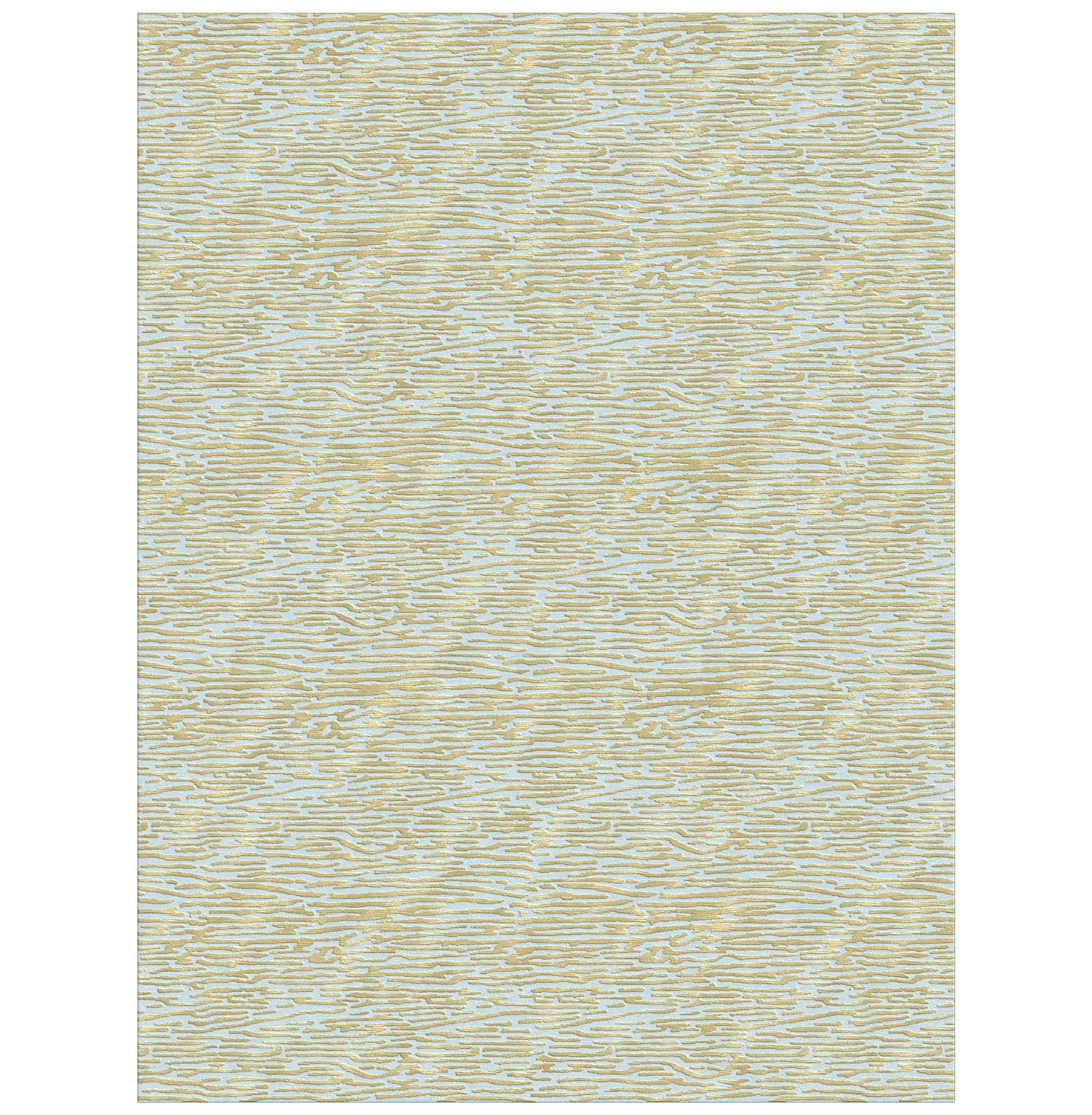 Jules Blue Gold Hand Knotted Tibetan Wool Rug - 4x6