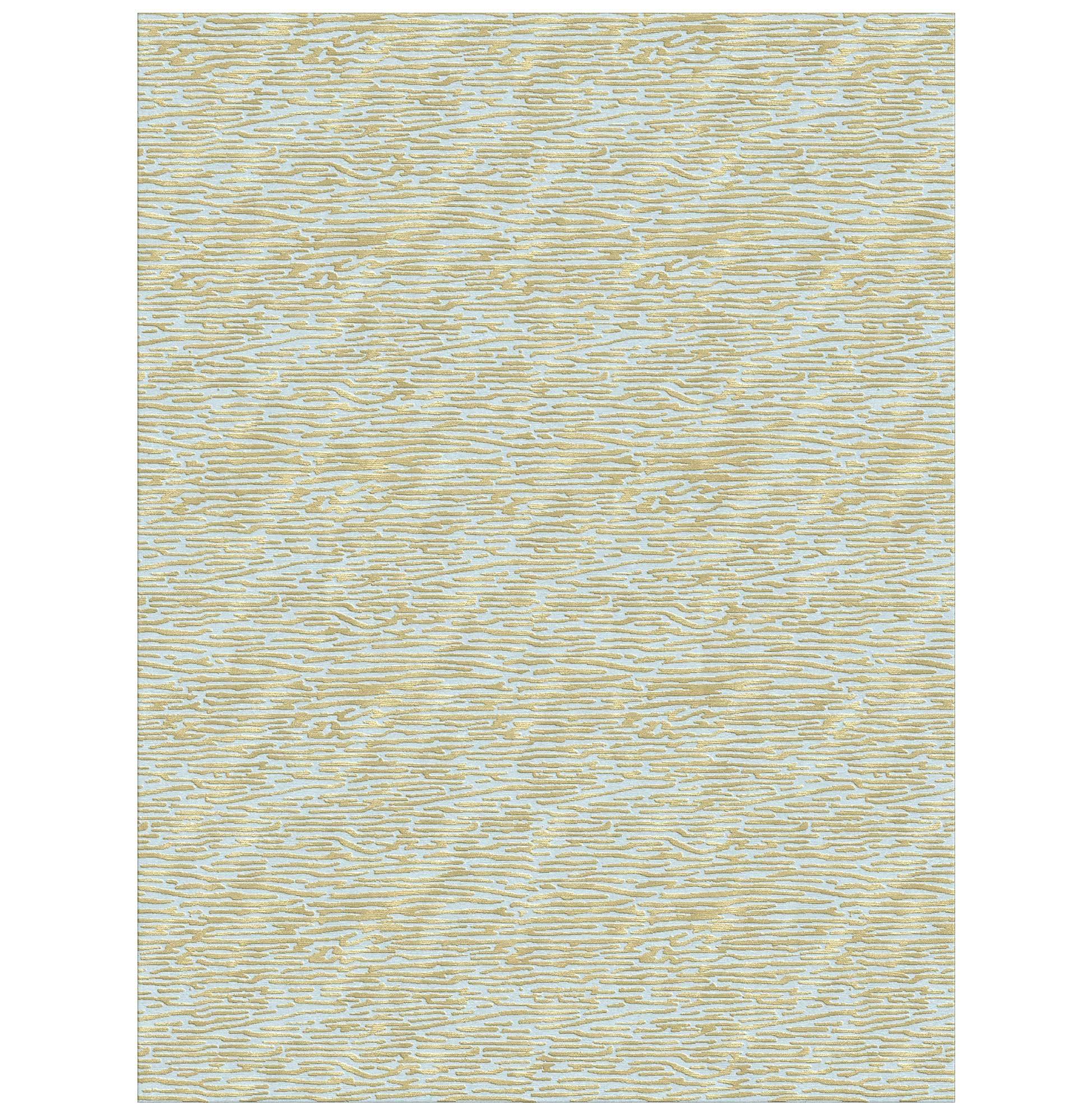 Jules Blue Gold Hand Knotted Tibetan Wool Rug - 10x14