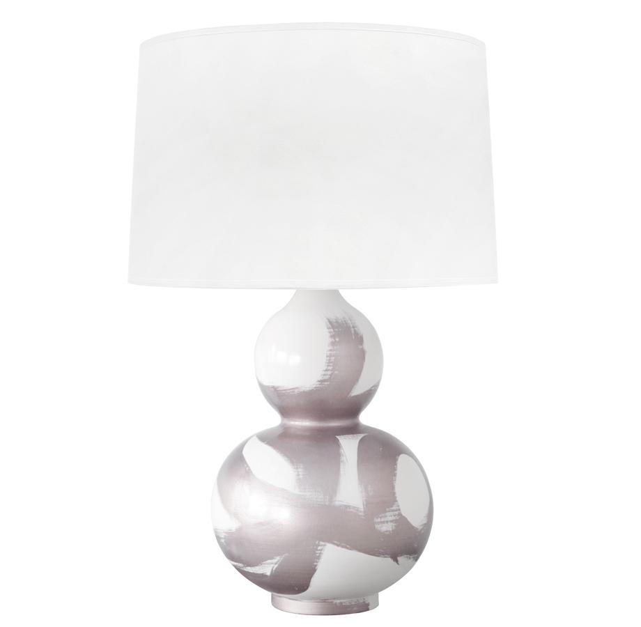 Hailey Hand Painted Gourd Shape Brushstroke Silver Table Lamp