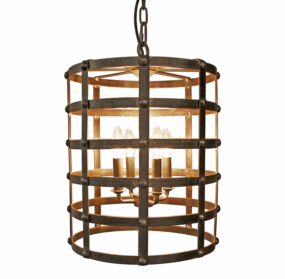 Francis Industrial Loft Metal Barrel Cage Pendant Light
