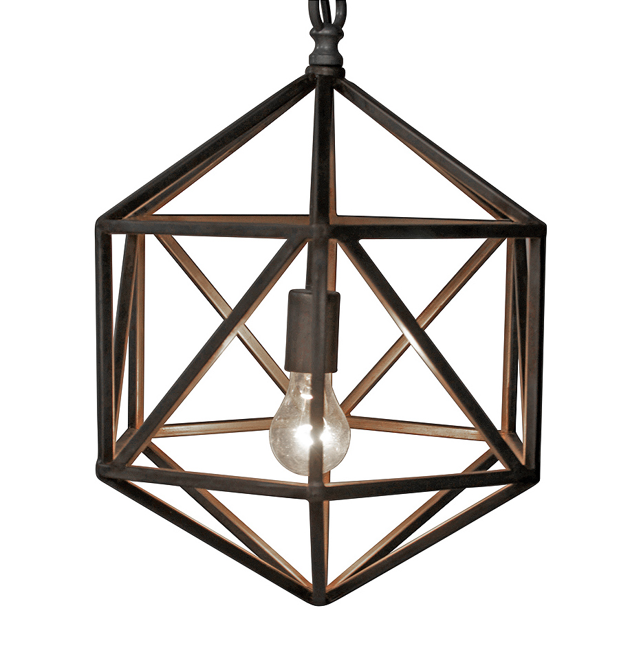 Ryles Industrial Loft Diamond Metal Pendant Light