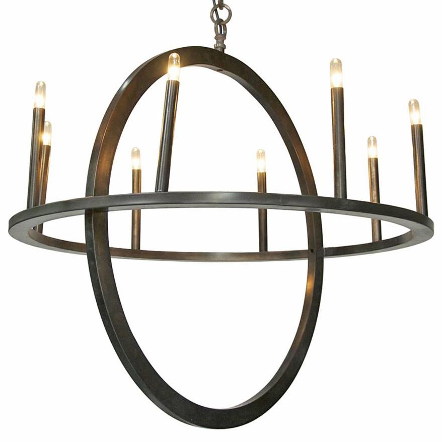 Randall Industrial Loft Metal Circle Pendant Light