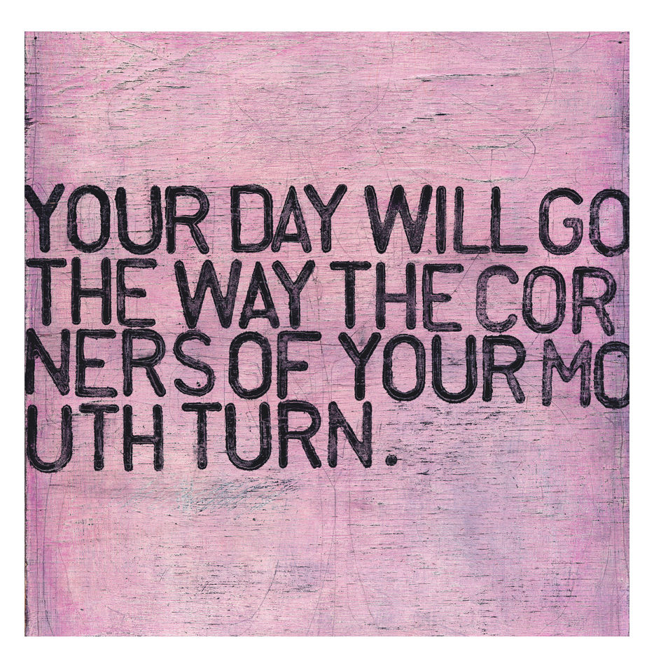 Your Day Will Go Pink Distressed Reclaimed Wood Wall Art - 36 Inch