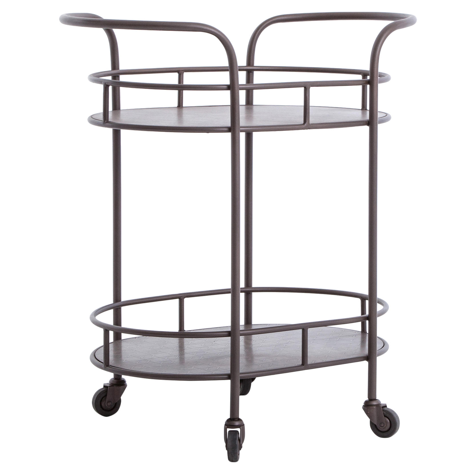 Cole Industrial Style Metal Small Oval Bar Cart