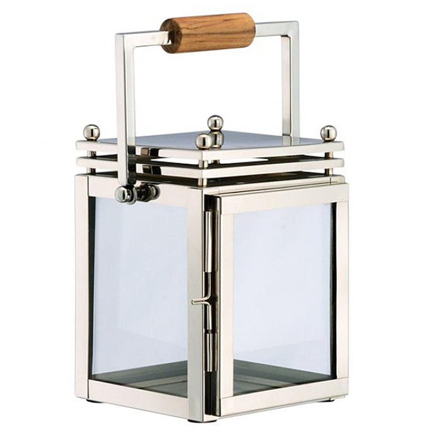 Orchard Coastal Beach Steel Wood Glass Candle Lantern - 9.8 Inch