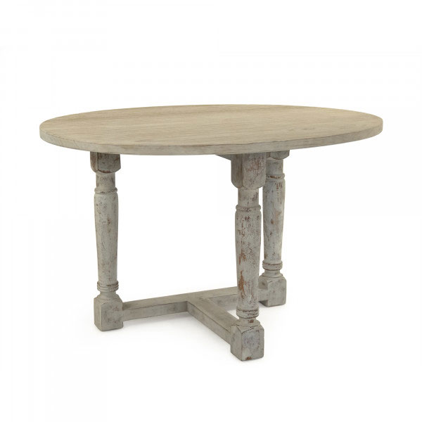 French Country Cottage Drop Leaf Prague Table