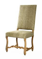 Freija French Country Grey Silk Dining Chair | Kathy Kuo Home