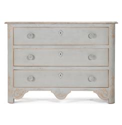Patric Swedish Gustavian Style Painted Chest Dresser