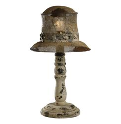Hats Off French Country Rustic Table Lamp | Kathy Kuo Home