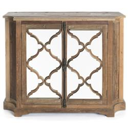 Wayside Wood Small Cabinet with Glass Paneled Door