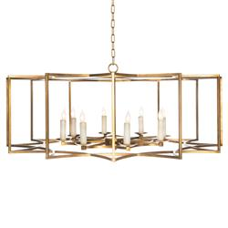 Starlight Hollywood Regency Gold Large Star Cage Chandelier