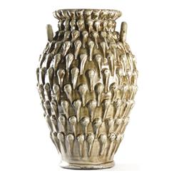 Amphora Textured French Country Urn Vase | 7017 GREY