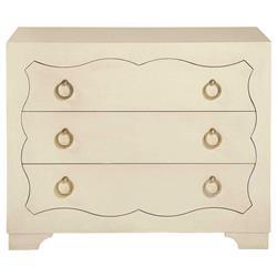 Oriana Modern Classic Ivory 3 Drawer Dresser Nightstand