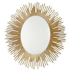 Oriana Modern Classic Antique Gold Sunburst Mirror