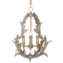 Clarisse French Country Rustic White Chandelier - 23 Inch