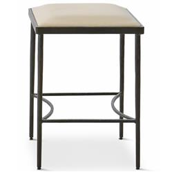 Ivan Industrial Loft Muslin Upholstered Iron Dining Stool
