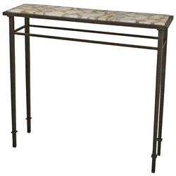 Vesuvio Global Bazaar Agate Stone Iron Console Table - 39.75 Inch