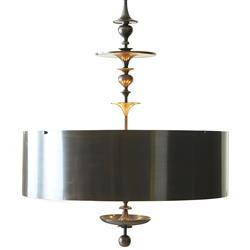 Karel Bronze Hollywood Regency Pendant Lamp - 39.5 Inch
