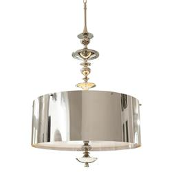 Karel Polished Nickel Hollywood Regency Pendant Lamp - 30 Inch
