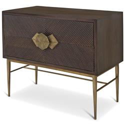 Darwin Global Bazaar Dark Wood Brass Storage 2 Drawer Bachelor Chest